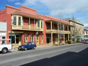 Gold rush era hotel in Yreka, California, on Miner Street, the main street of the town back in the early days.