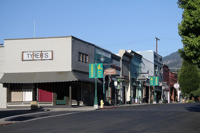 Miner Street, Yreka, California, is the original main street of this gold mining town. The historic buildings are each marked with a plaque telling this history from the early days of Yreka. http://journeycalifornia.com/yreka-siskiyou-county-gold-town/