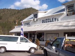 Quigley's Market in the town of Klamath River, about 14 miles from Interstate 5 and the city of Yreka, CA. Found on Highway 96 - the Klamath River Highway.