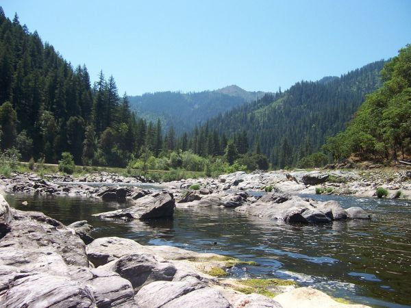 The Klamath River road, called Highway 96, extends from Highway 5 at Klamathon, alongside the river to Happy Camp, California, and onward to Willow Creek, about 155 miles of rugged river-side driving. http://journeycalifornia.com/klamath-river-highway-northern-california-96/