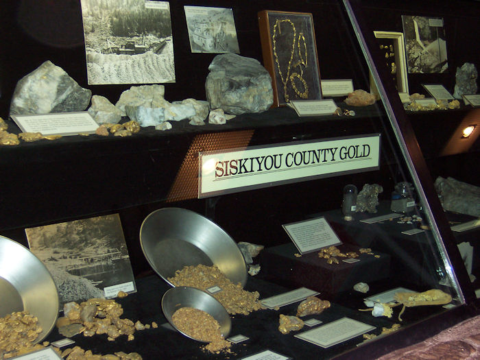 This Siskiyou County gold display was in the lobby of the courthouse, but was stolen by two thieves on 1-31-12. They are in prison, but the gold is still missing and will probably never be seen again.