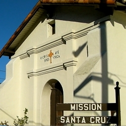 A replica of the original Mission Santa Cruz, which stood nearby on ground now occupied by Holy Cross Church, built in 1889. The original mission was founded in 1791. This recreation of the mission is smaller than the original, and contains a small museum and gift shop. http://journeycalifornia.com/santa-cruz-ca-mission-community-history/