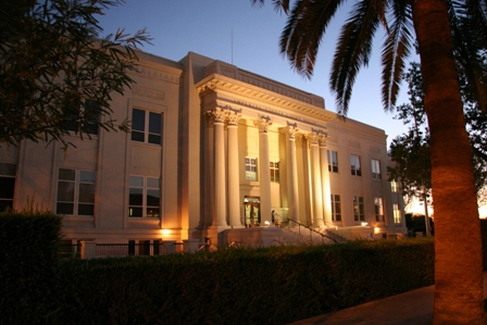 The Imperial County, California courthouse. El Centro, CA.