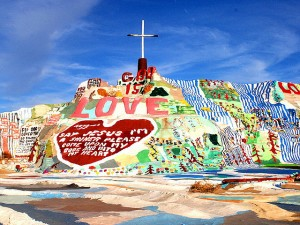 Salvation Mountain by Leonard Knight.