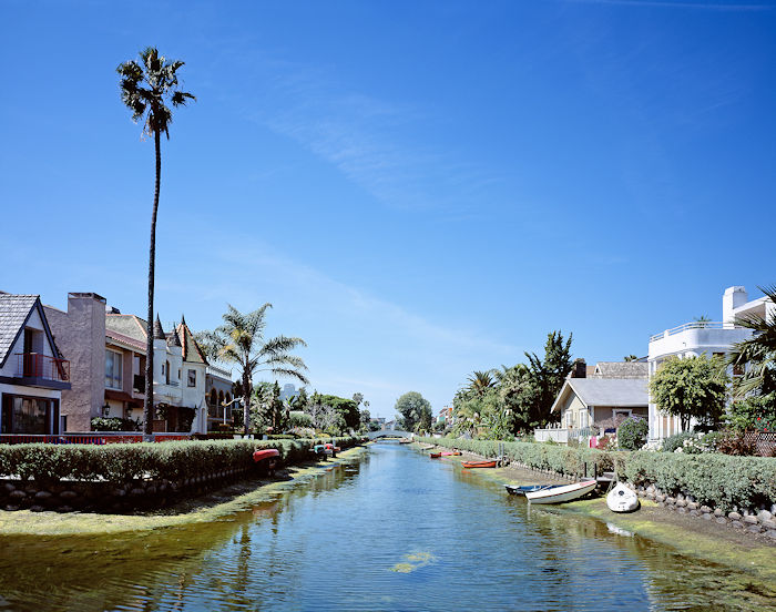 Venice, California, was created in 1904 to resemble Venice, Italy, with a system of canals. Most were paved over, but a few remain.