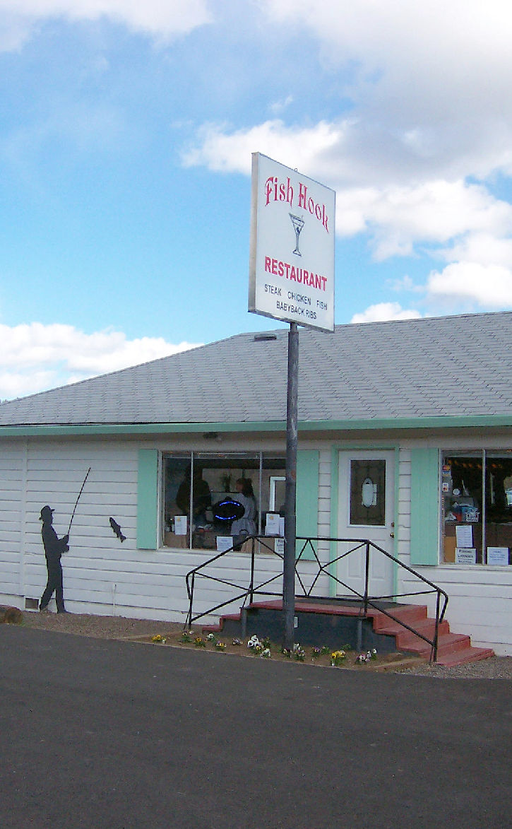 The Fish Hook Restaurant on Copco Road.