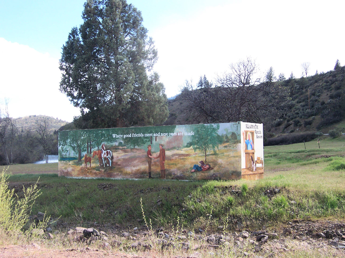 A mural at the Klamath River Ranch Resort.