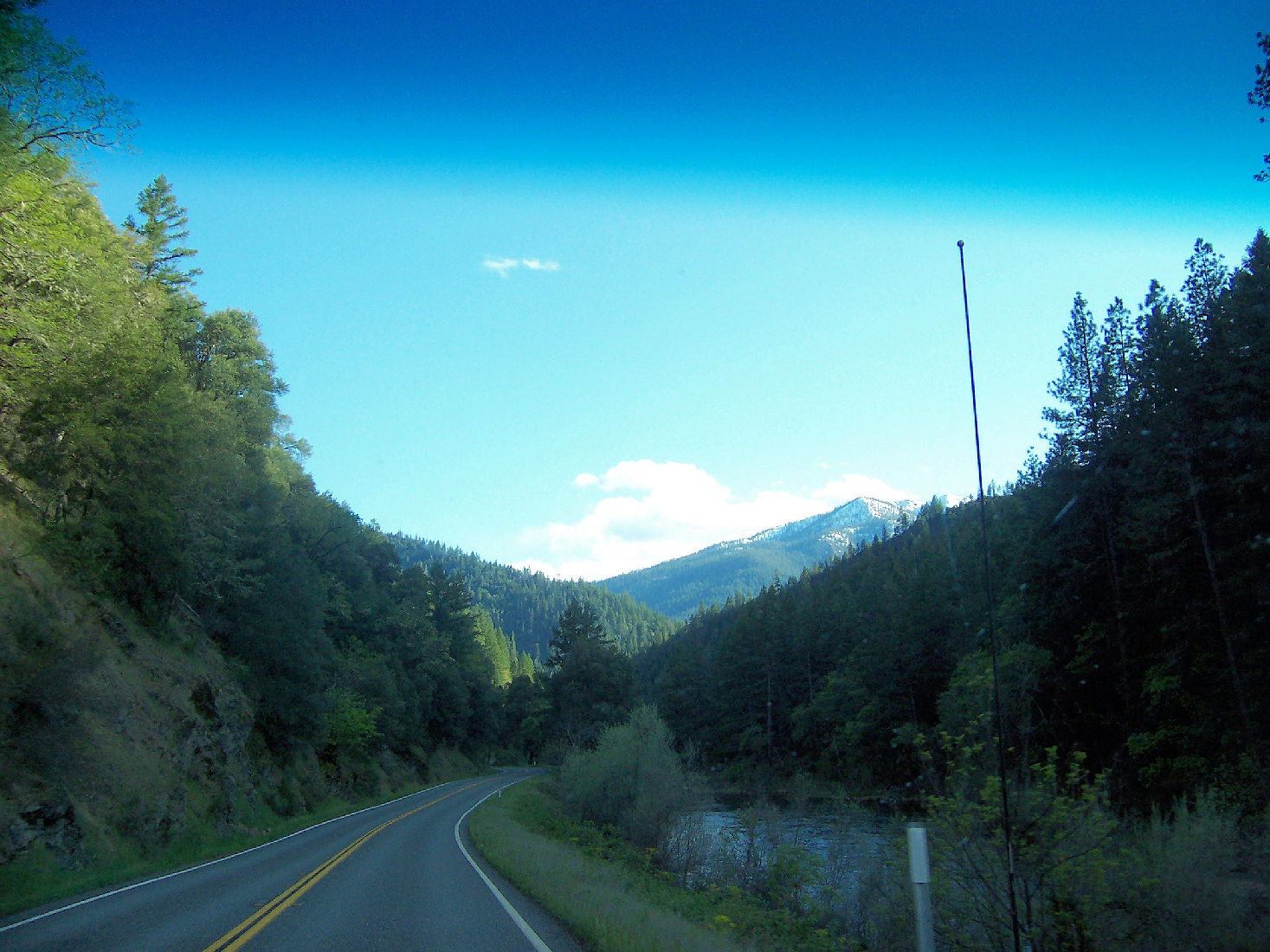 The drive home to Happy Camp on the Klamath River Highway.